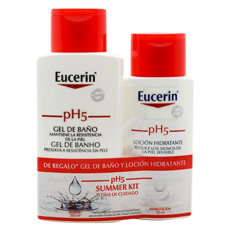 EUCERIN. SUMMER KIT. GEL BAÑO 200 ml. + LOCION 125 ml.