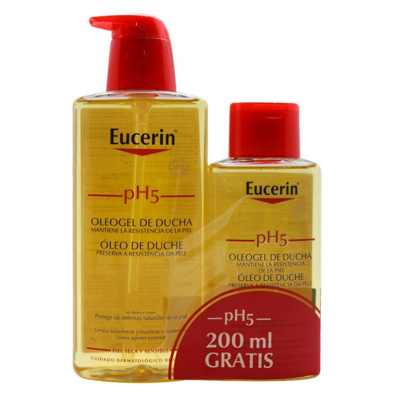 EUCERIN. SKIN PROTECTION. PACK OLEOGEL BAÑO. 400 ml + 200 ml.